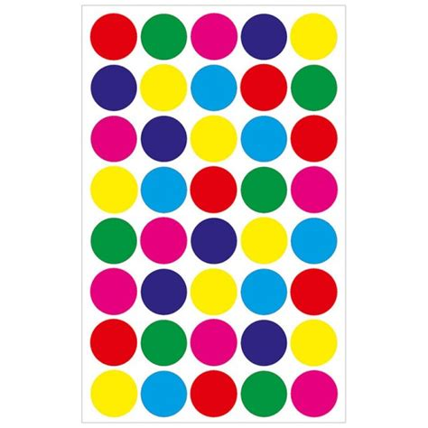 colored stickers colored circle 3 4 quot stickers circle stickers hygloss