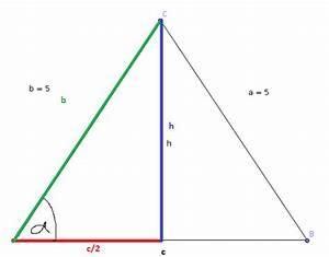 Höhe Gleichschenkliges Dreieck Berechnen : trigonometrie trigonometrie 1 berechnung von seite und h he des gleichschenkligen dreieck abc ~ Themetempest.com Abrechnung