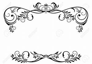 Flower Borders Black And White   Free download best Flower ...