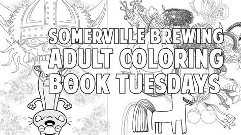 adult coloring book night at somerville brewing company