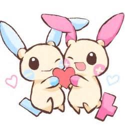 Pokemon Plusle and Minun Cute