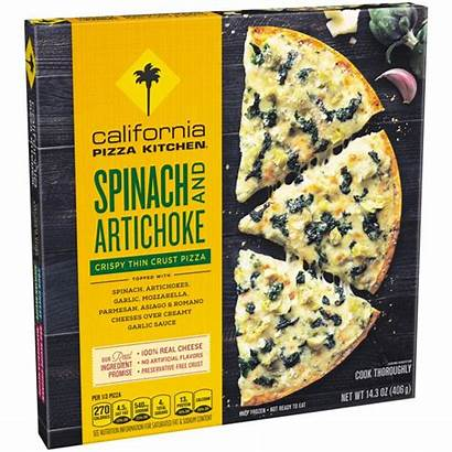 Pizza Frozen Crust Thin California Spinach Kitchen