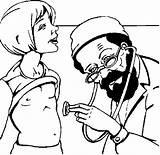 Doctor Patient Coloring Pages sketch template
