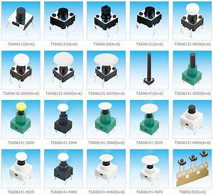 6x6 Pushbutton Switch With 10mm Diameter Switch Cap And