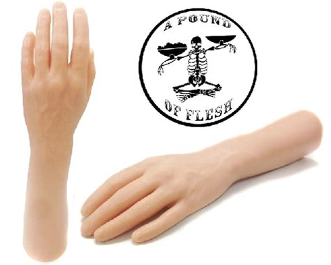 pound  flesh synthetic arm left synthetic tattoo arm