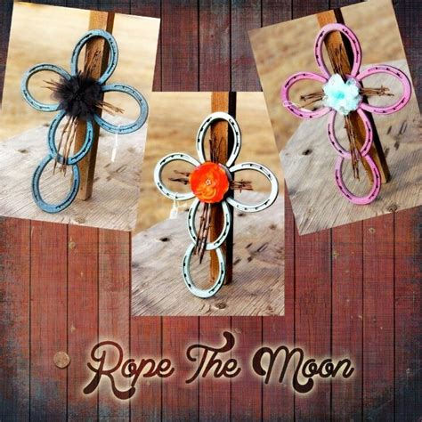 and craft ideas horseshoe crosses for the at the ranch horseshoes 6869