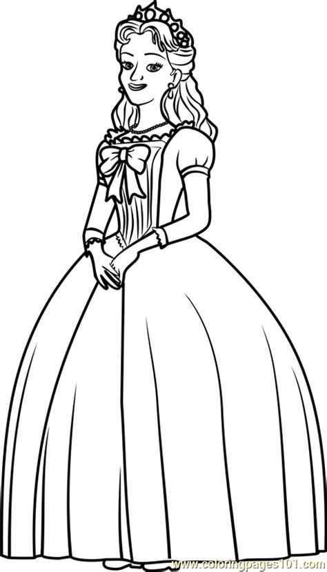 Queen Miranda Coloring Page - Free Sofia the First