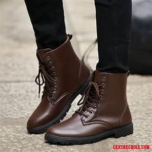 Bottines À Lacets Homme : bottines cuir noir boots lacets homme marine motor city ~ Melissatoandfro.com Idées de Décoration