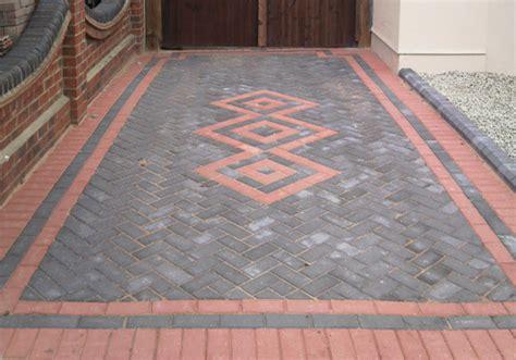 brick driveway designs patterns decking driveways landscaping london