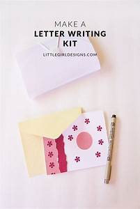 how to make a portable letter writing kit how to make With mother daughter letter writing kit