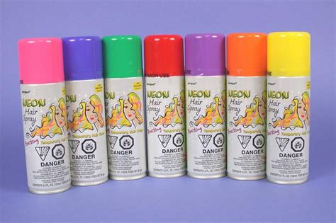 colored hairspray many colors
