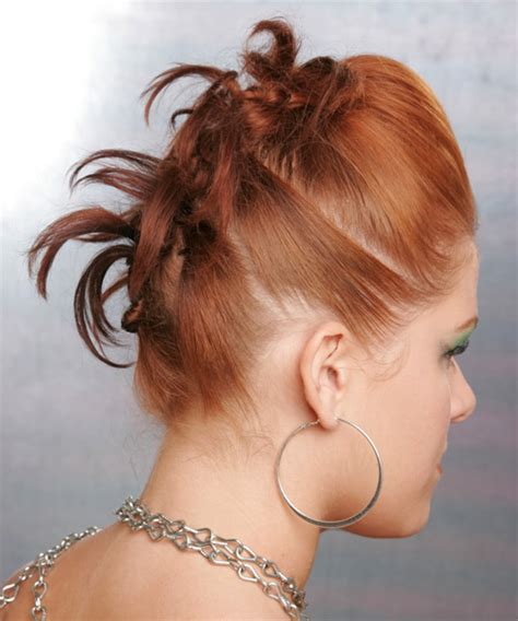 long straight ginger updo