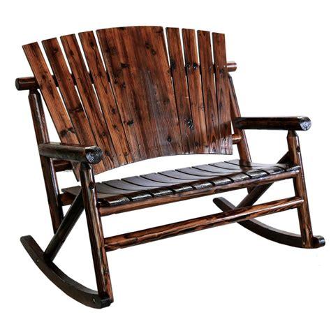 leigh country char log patio rocking chair tx 93866