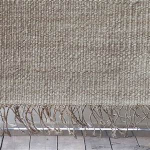 tell me more tapis toile de chanvre blanc bleached With tapis en chanvre