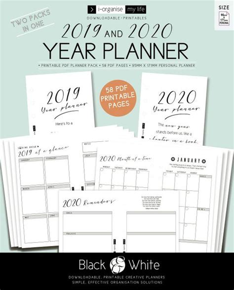 personal year planner calendar year planner calendar