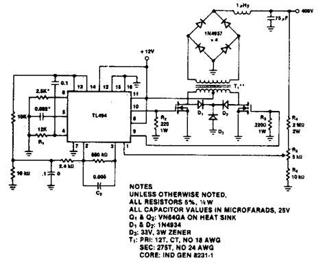 push pull dc dc converter circuit diagram