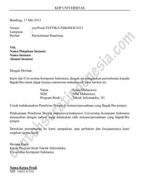 Contoh Surat Izin Buatan Sendiri by Surat Permohonan Contoh Surat Indonesia