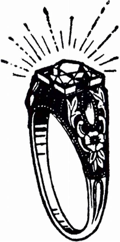 Ring Clipart Diamond Clip Class Drawing Graphics
