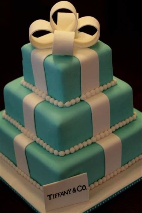 ideas de pasteles de bodas elegantes de color tiffany