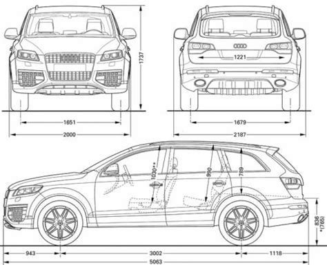 Audi Q7 Interior Dimensions by Audi Q7 Dimensions Interior Review Specs