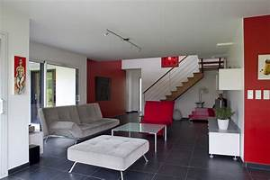 Deco Mur Interieur Moderne : d co salon rouge decoration guide ~ Zukunftsfamilie.com Idées de Décoration