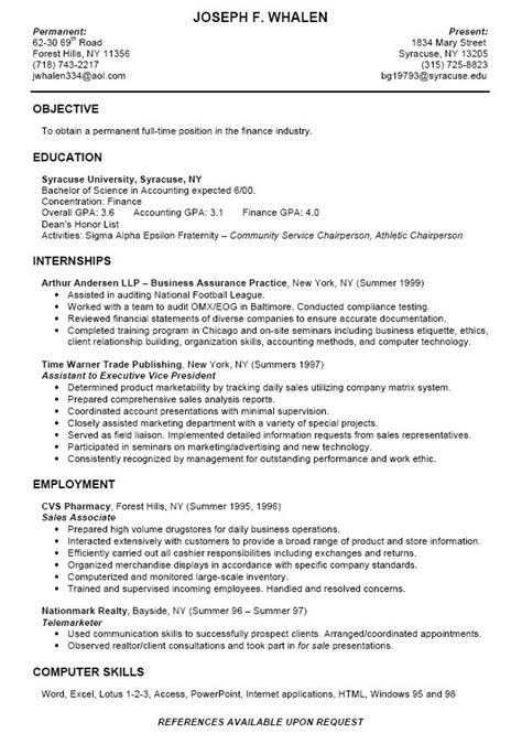 college intern resume samples  college student