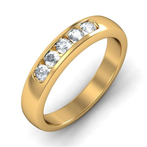carat  diamond wedding band   yellow gold
