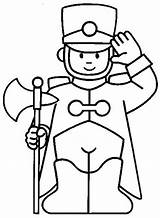 Coloring Guard Pages Royal sketch template