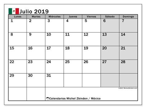 calendario julio  mexico michel zbinden es