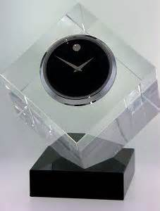 crystal collection tcl 169 m movado desk clocks clock
