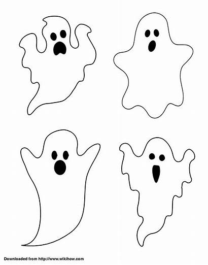 Halloween Printable Crafts Ghost Outline Templates Window