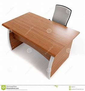 3d fice Desk With Chair Royalty Free Stock graphy