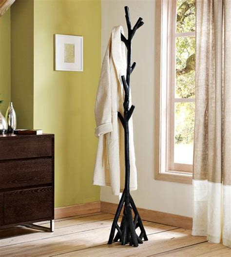 diy tree coat racks personalizing entryway ideas