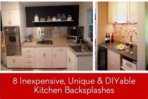 unique backsplashes for kitchen eye 8 inexpensive unique and diyable backsplash 6642