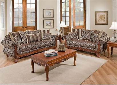 Living Traditional Fabric Wood Textured Furniture Sofa