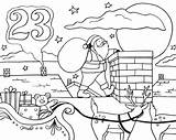 Roof Coloring Advent Calendar Pages Santa Drawing Natural Resources Getcolorings Getdrawings Printable Getcoloringpages sketch template