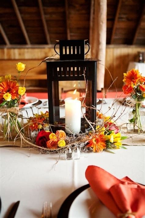 fall lantern centerpieces lantern table l metal table
