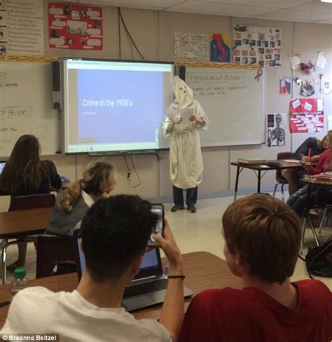 Wisconsin high school student wore a KKK costume in presentation | Daily Mail Online
