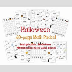 Free 30page Halloween Multiplication Packet Math Worksheets And Games  Homeschool Den