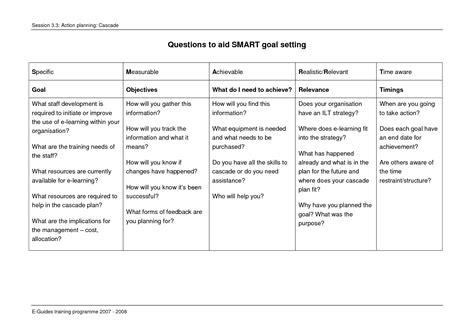 images  smart objectives worksheet smart goal