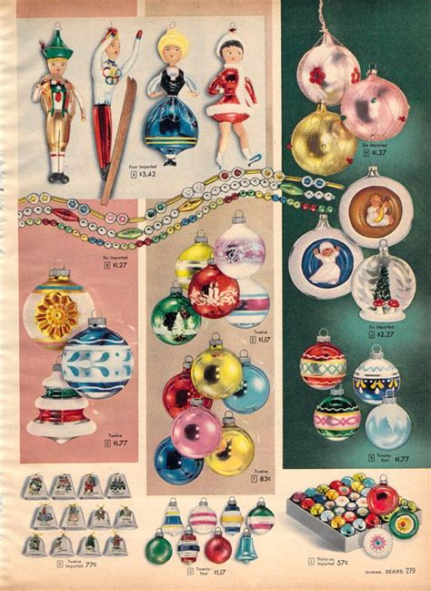 christmas ideas catalogues 17 best images about ornaments 1950 1960 on decorations