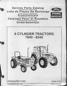 Ford New Holland Tractor 7840 8240 8340 Parts Manual
