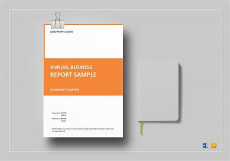 annual report samples word  pages