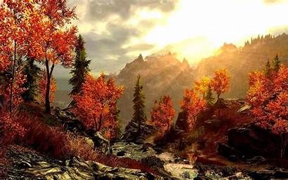 Fall Desktop Mountain Mountains Autumn Wallpapers Forest