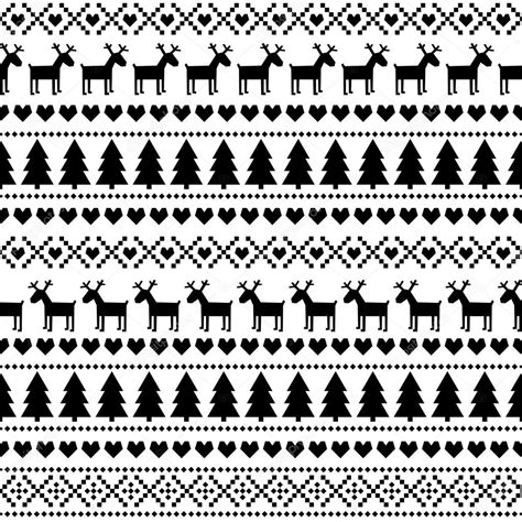 This demo is only a small part of christmas sweater patterns. Black and white seamless Christmas pattern, card ...