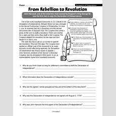 From Rebellion To Revolution, Lesson Plans  The Mailbox  American Revolution Pinterest