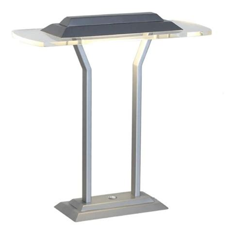 silver table ls lite source slate silver clear led table l ls 22479