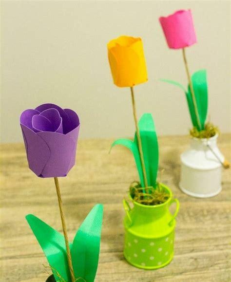 papierblumen basteln mit kindern schoene ideen und bastelanleitungen