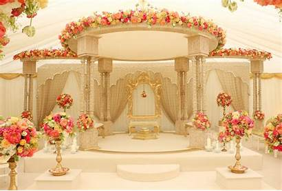Mandap Indian Decorations Ceremony Stage Elegant Theme