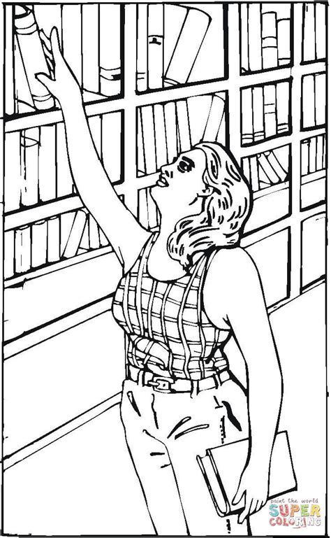 reaching   book   library coloring page  printable coloring pages